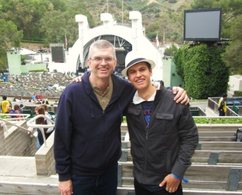 Chris and Reagan at the Hollywood Bowl