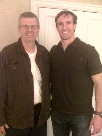 Chris with Drew Brees